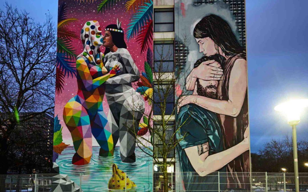 Beeindruckende StreetArt Gemälde auf dem Siemensgelände